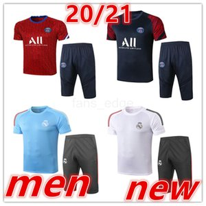 2020 2021 New mens real madrid tracksuits soccer training suit Short sleeve 3 4 pants football kits New adult Football shirt tracksuit