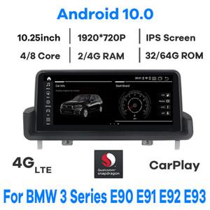 "10.25"" Qualcomm CPU Android 10.0 Car Multimedia Player GPS Radio for BMW 3 Series E90 E91 E92 E93 with BT Wi-Fi 4G iDrive Knob"