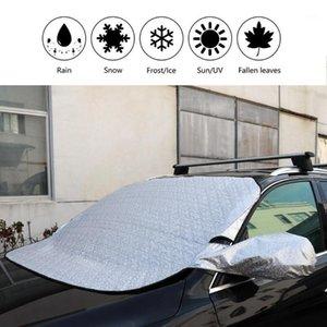 .CAR Cam Sunshade Kapak Evrensel Araba Yağmur Buz Kar Koruyucu Anti Güneş UV Isı Ön Pencere Kalın Araba Kapak Tüm hava durumu1