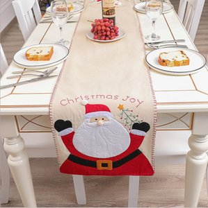 Christmas TableclothCar Xm Linen Santa Claus Snowman Table Cover Christmas Table Dress Tablecloth Eating Mat Christmas Decorations HWC3715