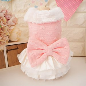 GLORIOUS KEK Small Winter Cute Girl Coat Dress Fur Collar Luxury Princess Female Dog Clothes Yorkshire Shih Tzu Y1124