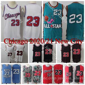 2020 Mens Chicago Basketbol Formaları Scottie Pippen 33 Dennis Rodman 91 Derrick Gül 1 Vintage Dikişli Retro Basketbol Gömlek
