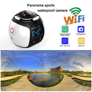 360 Degree Action Camera HD Ultra Mini Panoramic Camera WIFI 4k 16MP 3D Sports Camera Driving VR Camcorder Video Cam Waterproof 30m