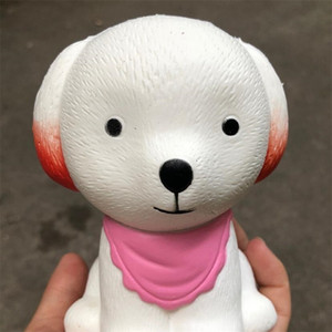 Simulation PU Squishies White Dog Shape Jumbo Squishy For Children Adult Reduce Pressure Toys With Scented 8 5rg YB