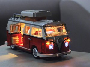 متوافق Volkswagen 21001 العربة فان الخالق مع خبير بناء 10220 كتل 21001 هدايا الطوب الكلاسيكية T1 سيارات اللعب نموذج hlugw