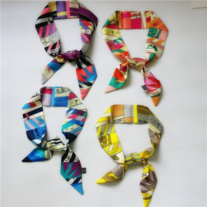 Fashionable silk hair band silk lady bow scarf fashion bag decorative ribbon printed scarf 90*5cm