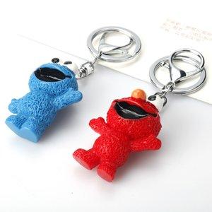 Cartoon anime peripheral Sesame street doll samll bag pendant cute key chain kid gift both boy and girl