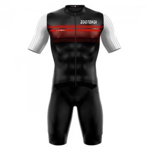 Zootekoi vücut takım elbise erkekler bisiklet forması set triatlon skinsuit trisuit kısa kollu giyim tulum maillot ropa ciclismo hombre1