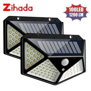 100LEDs LED Wall Lamp PIR Motion Sensor Light Outdoor Solar Wall Lights Home Garden Yard Security Street Light Led Night