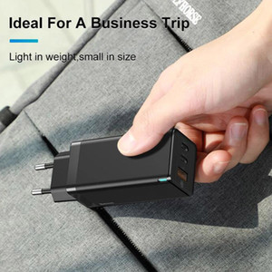 Оригинал Youpin Baseus GaN 65W USB C зарядное устройство быстрой зарядки Тип C Быстрый USB зарядное устройство для Macbook Pro Иф Sams