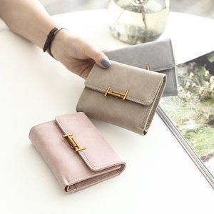Hot Sale 2020 Women Bags Purse Short Fashion Tide Wallet Multi-functional Backpack Designers Women Cute Holders Luxurys Folding Card Re Htfe