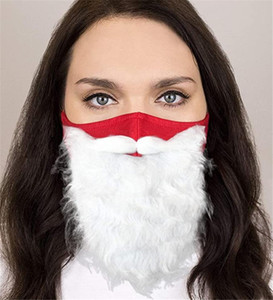 Holiday Santa Beard Mask Mask Costume per adulti per Natale (una taglia adatta a tutti) Red New AHE3148