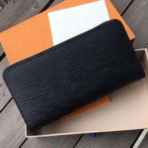 고품질 패션 클래식 블랙 유니섹스 비즈니스 디자이너 크로스 바디 여성 손 가방 남자 공식 지갑 지갑 지갑 카드 홀더