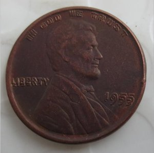 US One Cent 1955 Double Die Penny Copper Copy Coins metal craft dies manufacturing factory Price