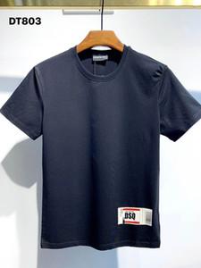DSQ PHANTOM TURTLE 2021SS New Mens Designer T shirt Paris fashion Tshirts Summer DSQ Pattern T-shirt Male Top Quality 100% Cotton Top 1084