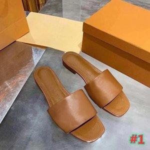 2020 جودة عالية النعال الشريحة الصيف الأحذية المسطحة مثير الجلود منصة الصنادل الأحذية المسطحة النساء الصنادل حجم 35-42 مع مربع