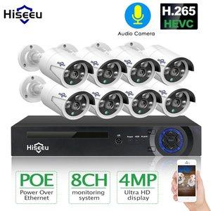 H.265 8CH 4MP POE Camera System Security CCTV POE NVR Outdoor Waterproof Video Surveillance Kit Hiseeu