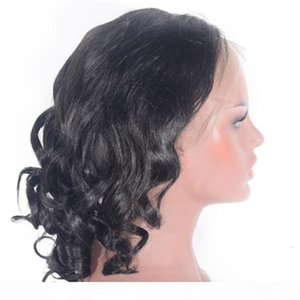 Malaysian Human Hair Lace Front Wig Loose Body Glueless Lace Wig Natural Color for Women 130% Density