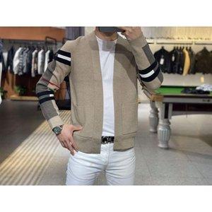 Мужские свитера 2021 осенью и зимняя футболка пальто кардиган Корейский европейский американский свитер