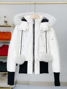 French winter long hot down jackets woman coat with fur windbreaker clothes for women women's mens puffer parkas goose