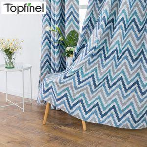 TopFinel Mosaic Impreso ondulado Aislado térmico Blackout Blackout Paneles Cortinas para la sala de estar Dormitorio Kitchen Room 1