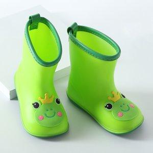 Joyhopy طفل كيد مع الكرتون الطباعة الفتيات الأطفال أحذية المطر القوس للماء أحذية الأطفال المطاط الأحذية الرضع