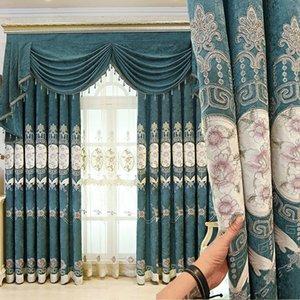 Royal Classic Aristocratic مطرز ستائر التعتيم ذات جودة عالية لغرفة المعيشة مع ستارة فاخرة فاخرة لغرفة النوم