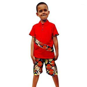 Vêtements d'Afrique de l'été pour enfants pour garçon 2019 Imprimer Top Pantalon costume Enfants Bazin Richen Dashiki Robe Robe africaine pour femmes Men1