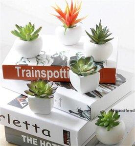 Buzdolabı Sticker Simüle Buket Çiçek Etli Bitki Buzdolabı Magnet Manyetik Saksı Bitki Ev Duvar Dekorasyon Oturma Odası Için