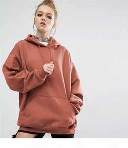 Plus Size 4XL 5XL Autumn Winter America Europe Solid Loose Women Plain Hoodies Sweatshirts Pullover Batwing Sleeve Sports Hooded Jacket