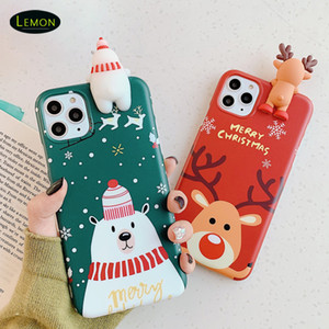 New For Iphone 12 Mini 11 Pro x xs max 8 7 6 Plus Cell Phone Case Cartoon Creative Designer Back Cover Luxury TPU Christmas Gifts