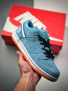 2020 New Suede Dunk series low-top casual sports skateboard shoes Low Pro Club 58 Gulf BQ6817-401