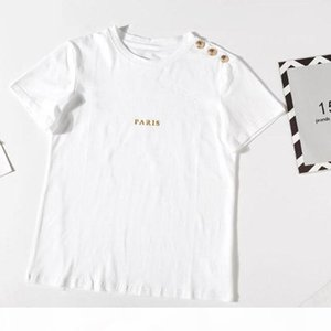 Lettre d'impression Bronzing T-shirt Femme T-shirt À Manches courtes Femmes Tshirt T-shirt T-shirt Fille Femme Summer Mode Vêtements Nouveau