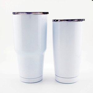 DIY blank sublimation 20oz 30oz stainless steel travel tumbler double-layer thermal insulation large-capacity car coffee cup with lid straw