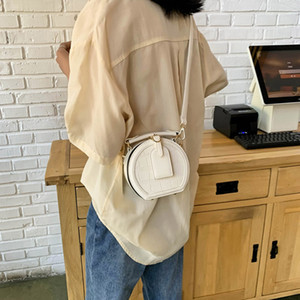2020 Summer Round Stone Pattern women casual Crossbody Bag Fashion Solid Color PU Leather Messenger Bags For Womens Travel Shoulder Handbags
