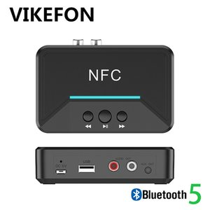 Auto ON, NFC Bluetooth 5.0 Audio Receiver & USB Play RCA AUX 3.5MM 3.5 Jack Music Stereo Wireless Adapter For Car Home Speaker