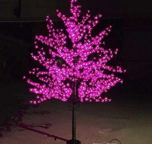 Outdoor LED Artificial Cherry Blossom Tree Light Christmas Tree Lamp 864 pcs LEDs 6ft 1.8M Height 110VAC 220VAC Rainproof Drop