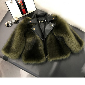 Fashion Baby Winter Outerwear & Coats Children's Girls Kids Faux Fabric Clothes Fur Coat 2-10 Y1113
