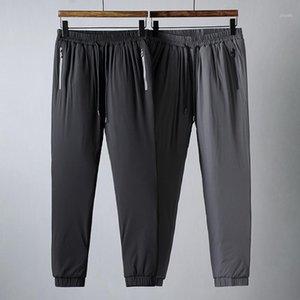 JSBD Kış Sıcak Knit Tutun Tüm Elastik Kumaş Basit 100 İnşa Erkekler Ince Feet Kalınlaşmış Pamuk Pantolon1