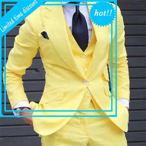 NOdename Null Yell 3 Paquetes atascados 2019 Hecho a la medida de los últimos Broek Design Fashion Hombres Traje de Boda Grooms Pak Jas