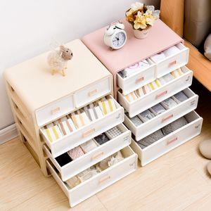 Underwear Organizer Storage Can Adjust The Partition Drawer Closet Organizers Boxes For Bras Briefs Socks Ties Scarfs Y1130