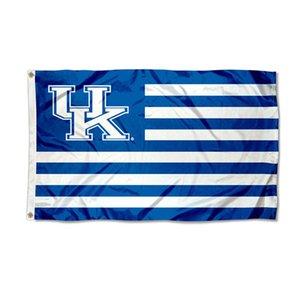 Kentucky Wildcats UK Nation Flagge NCAA Team Flagge 3X5FT Doppelt genähte Banner 90x150cm Sportfestival Digital gedruckt