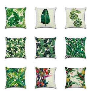 Plant Print Pillowcase Creative Decorative Pillow Case Fashion Printing Throw Pillow Cushion Sofa Pillow Cover High Quality GWA2665