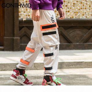 GONTHWID Men's Side Pockets Cargo Harem Pants 2018 Hip Hop Casual Male Tatical Joggers Trousers Fashion Casual Streetwear Pants