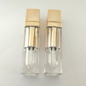 Luxury Gold Square Clear Lip Gloss Tube Empty Lip Gloss Tubes Lipgloss Refillable Bottles Cosmetic Packaging Container