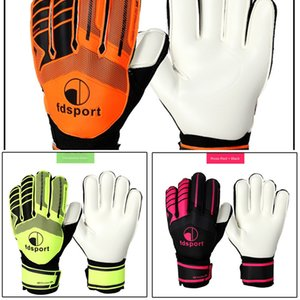 Latex Goalkeeper Professional Non-slip Protection Thick Emulsion Soccer Football Goalie Gloves with Fingersaves EE7P