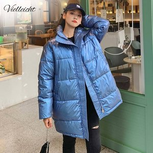 Vielleicht High Quality Winter Jacket Women Warm Thicken Parkas Long Winter Coat Women Shining Stylish Female Jacket Coat 201125