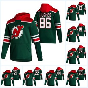 2021 Reverse Retro Hoodie Jack Hughes Jersey New Jersey Devils P.K. Subban Miles Wood Travis Zajac Nico Hischier Cory Schneider