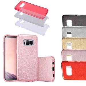 Étui de paillettes pour Samsung Note9 Armure Hybride 3 en 1 Bling Galaxy S9plus S8 S8Plus S5 S6EDGE S7 S7EDED NOTE 4 TPU PC Couverture PC