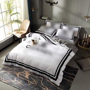 2021 أبيض مصمم مجموعات الفراش غطاء الساخنة الملكة سرير المعزون مجموعات غطاء الشحن السريع القطن الملك الحجم مجموعات الفراش